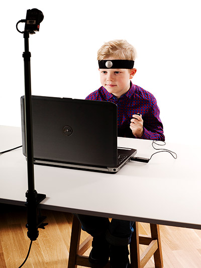 child taking the QbTest for ADHD