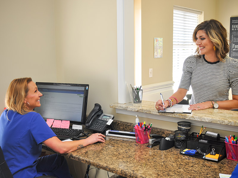 Greenville ADHD Specialists front office patient check-in and being greeting by our staff