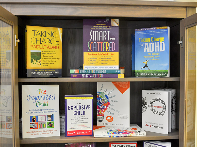ADHD books for sale recommended by physicians at Greenville ADHD Specialists