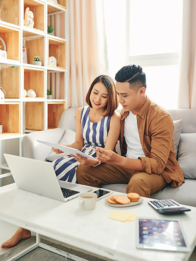 Young couple with ADHD having a clean and organized home